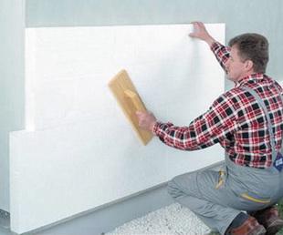 Пенопластом утепляют стены снаружи