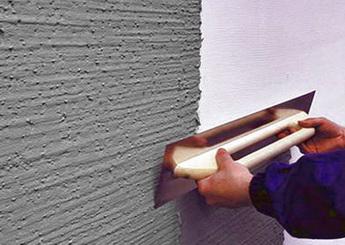 Теплая штукатурка позволяет немного снизить теплопотери через стены