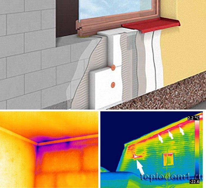 Недопущение  утечек тепла - применение правильных технологий утепления