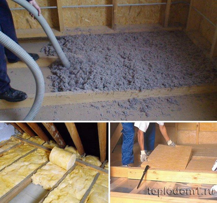 Как сделать потолок с минеральной ватой - фотографии