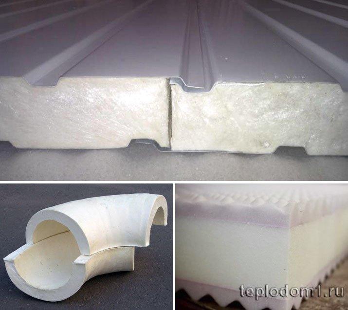 Пенополиуретан применяется в различных конструкциях