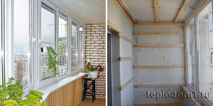 Отличную отделку балкона можно сделать и по слою утепления