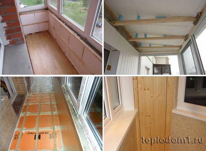 Теплоизоляцию балкона можно сделать и своими руками
