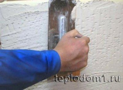 Фасад оформляется после утепления пенопластом