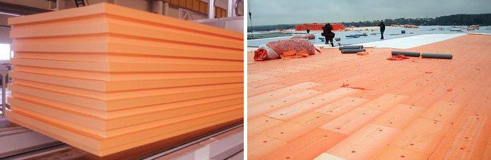 Экструдированный пенополистирол применяют для покрытия крыш
