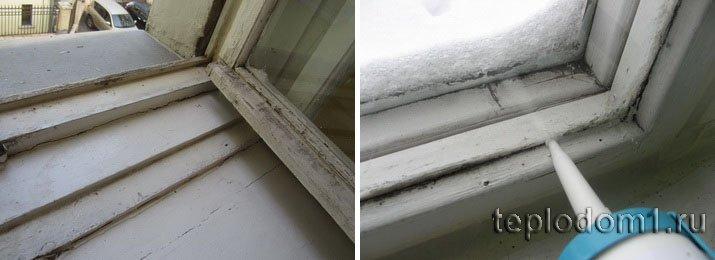 Герметиком можно хорошо уплотнить окна на зиму
