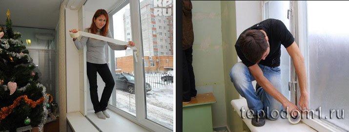 Заделка щелей в окнах - дело не шуточное