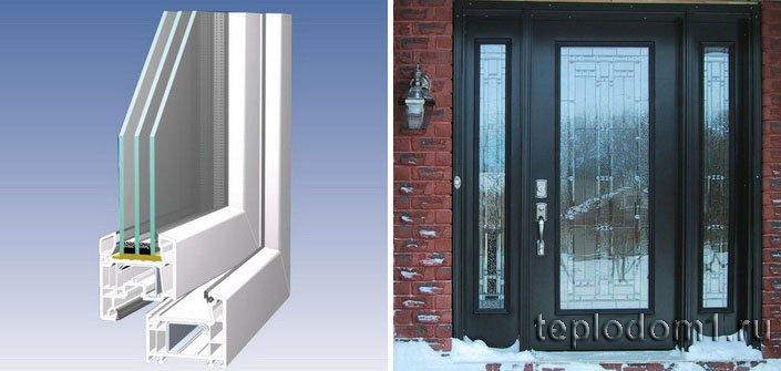 Утепленные окна и двери - основа утепления дома