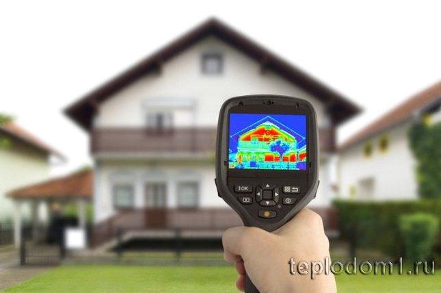 Утечки тепла из дома проверяются прибором