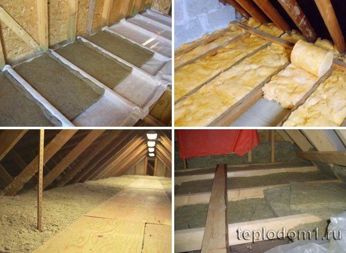 Утепление минеральной ватой делается для деревянных потолков