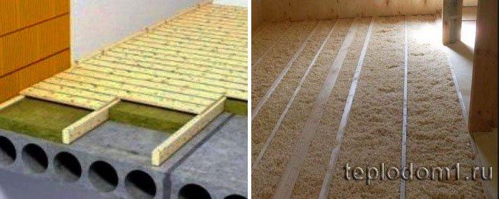 Утеплить потолок по бетонному основанию проще всего