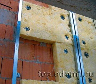 Утепление стен на даче минеральной ватой
