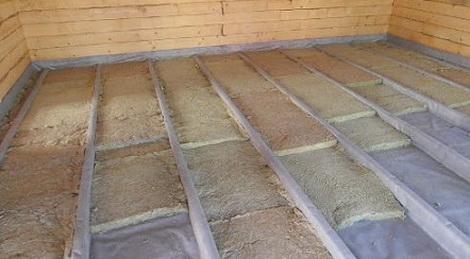 Полы в деревянном доме с минеральной ватой