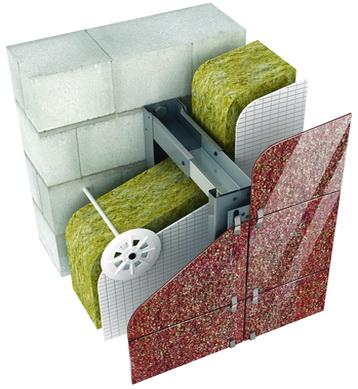 Система вентилируемый фасад, расположение утеплителя