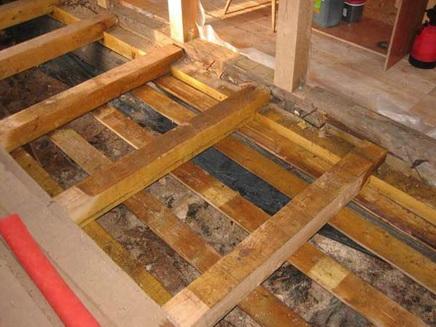 деревянные полы с утеплением