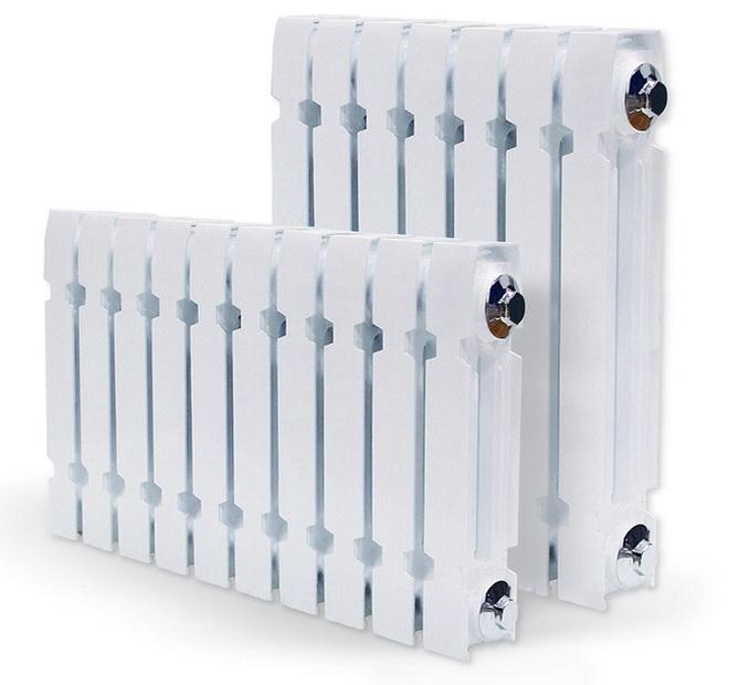 Алюминиевые радиаторы имеют приличный внешний вид