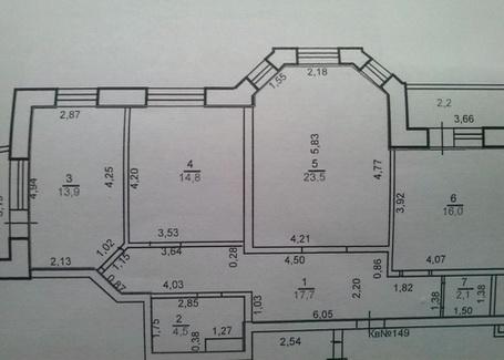 План здания с различными комнатами по теплопотерям