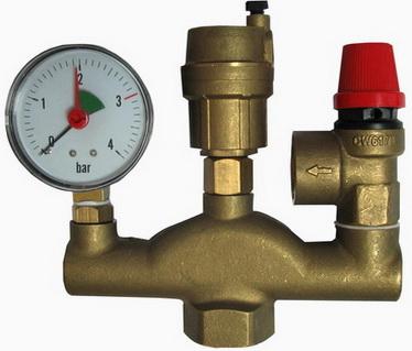 Группа безопасности для установки в системе отопления