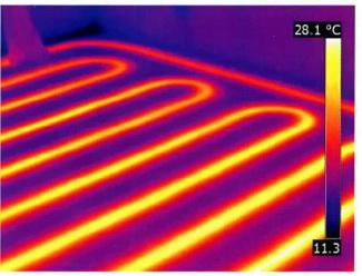 Теплые полы контролируются с помощью тепловизора