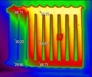 Тепловизором проверяют отопление