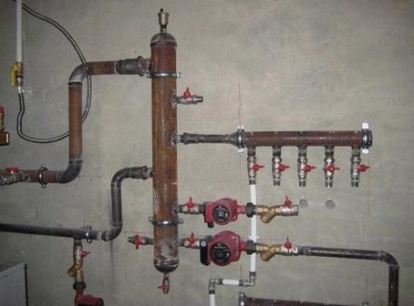 Разводка системы отопления с гидрострелкой