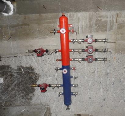 Подключение многих контуров с насосами к гидрострелке