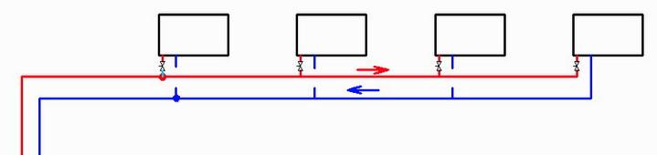 Схема тупиковая надежная для отопления