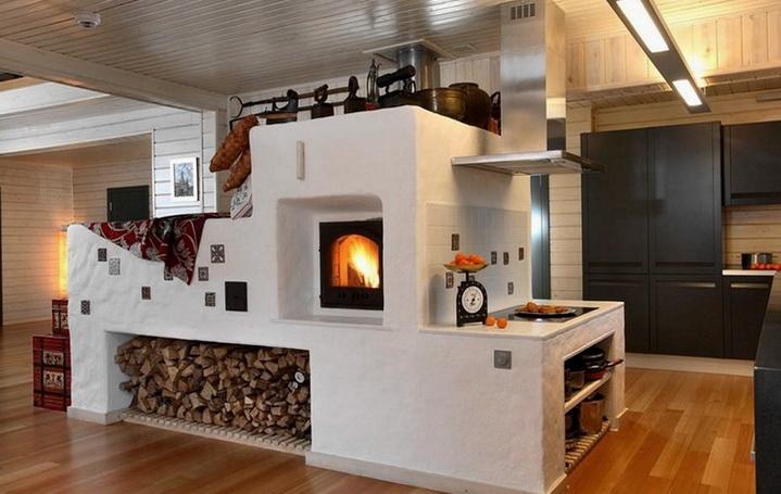 Печь в загородном доме делается по проверенной технологии