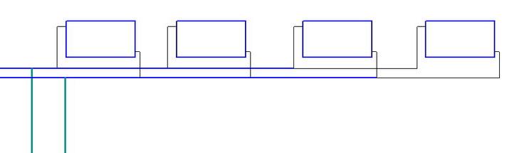 Тупиковая схема размещения радиаторов, двухтрубная