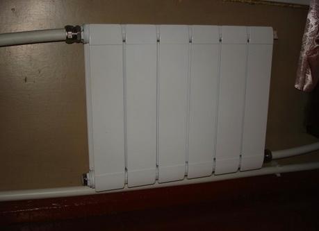 Радиатор подключенный по однотрубной схеме