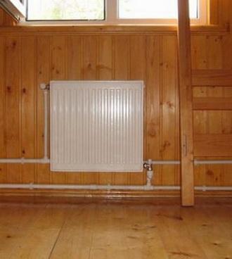 Радиатор установленный в доме, монтаж своими руками