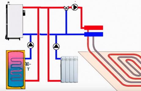 Схема установки нескольких насосов