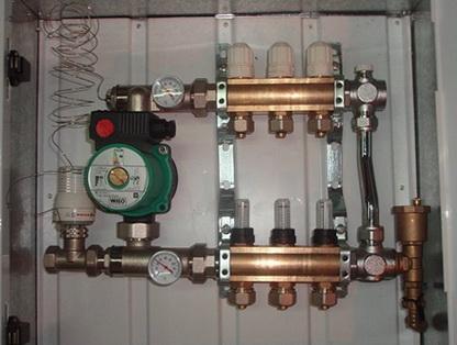 Насосно-коллекторная группа в схеме отопления