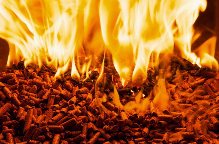 Пеллеты горят с выделением большого количества энергии