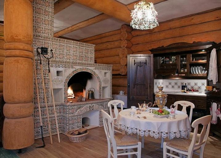 Большая печь поможет отопить загородный дом с комфортом