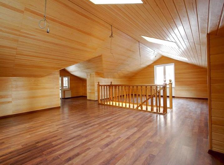 Пол сделаный в деревянном доме