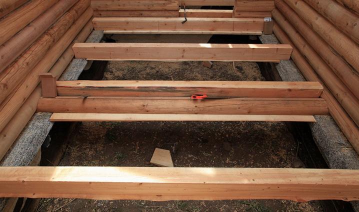 Как делаются деревянные полы на лагах