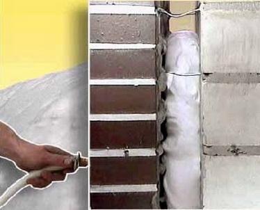 Заливка жидкого пенопласта через отверстие