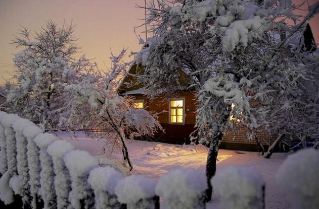Дом зимой, в который нужно установить автоматику