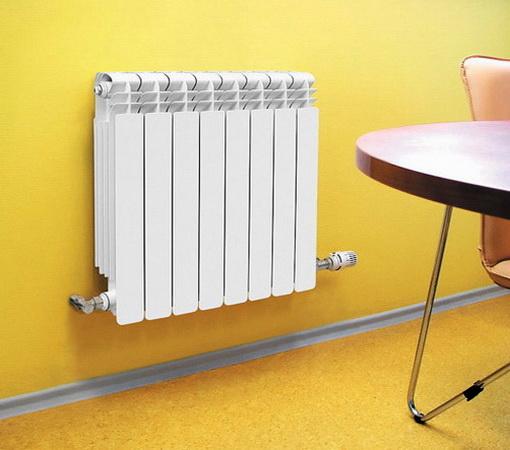 Алюминиевый радиатор в интерьере помещения