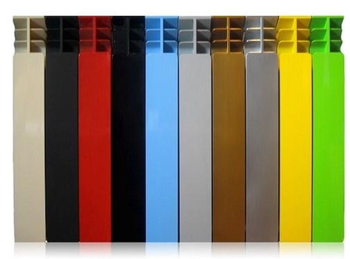 Алюминиевые радиаторы могут быть разных цветов