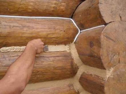 Заделка швов в деревянных стенах