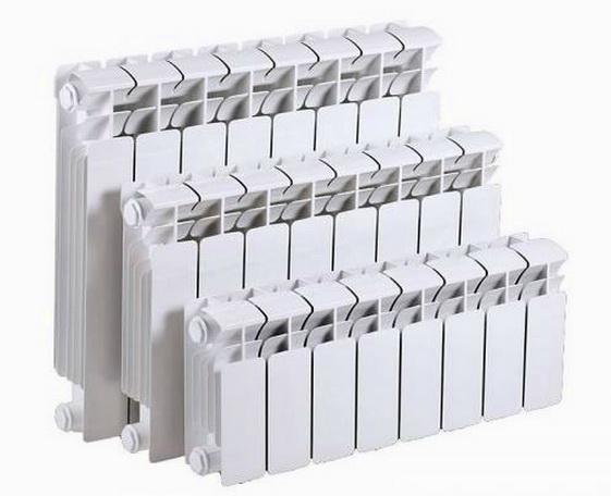 Алюминиевые батареи различной высоты