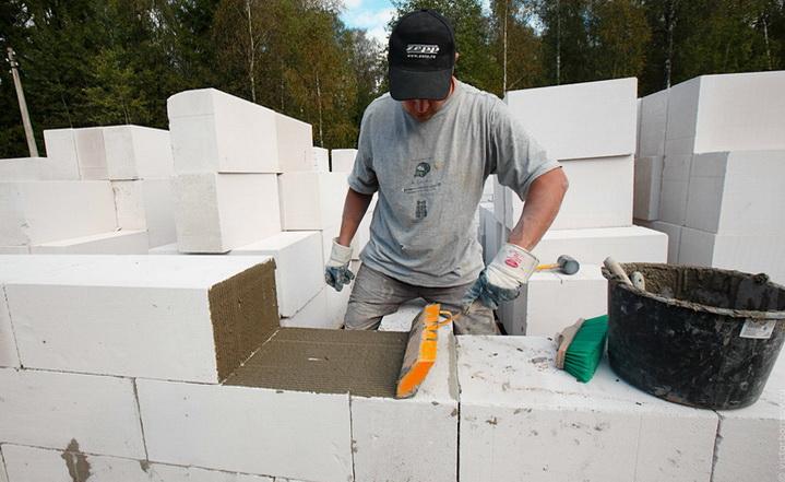 Теплый раствор для кладки блоков — как сделать и применить