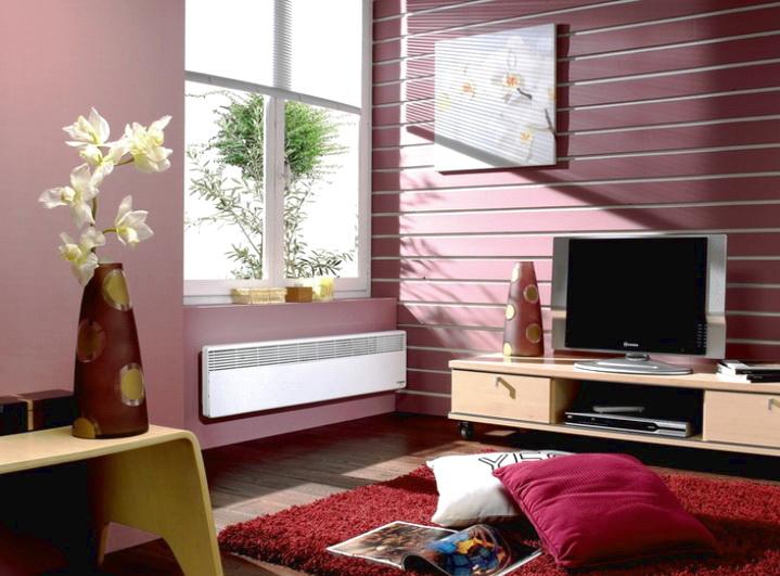 Электроконвектор хорошо вписывается в дизайн помещения