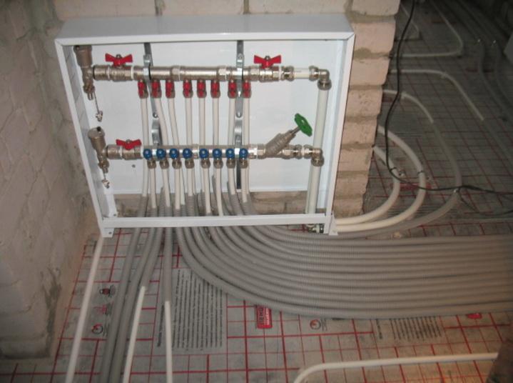 Обеспечение сохранности трубопровода и стяжки возле шкафа