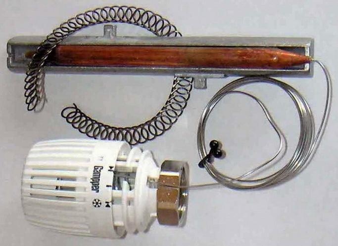 Термоголовка управляющая работой смесительного узла