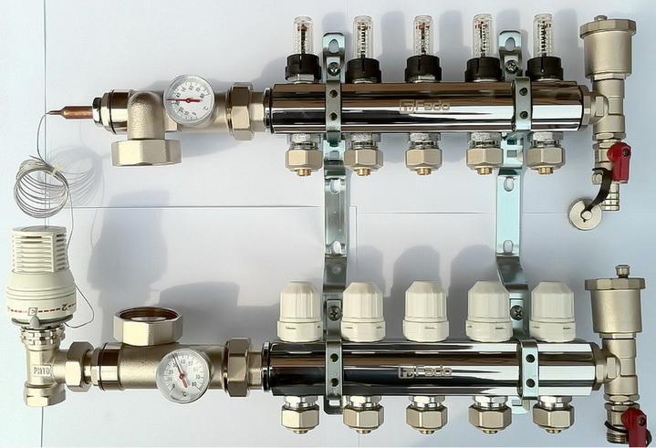 Различные схемы теплого пола —  стяжки, труб,  оборудования, подключений