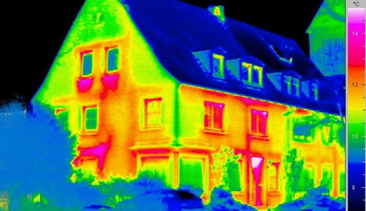 Как выглядит дом в тепловизор