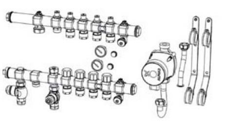 Отдельные узлы коллектора теплого пола